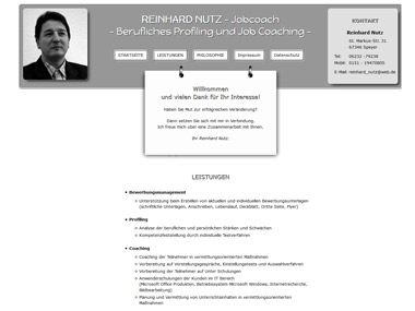 Website: Coaching / Reinhard Nutz / Speyer