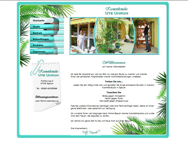 Website Kosmetikstudio Ute Unruh - Speyer