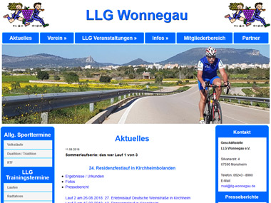 Website LLG Wonnegau