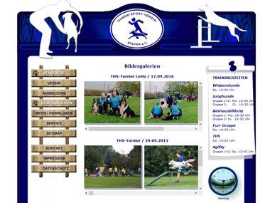 Website Hundesportverein -HSV- Speyer