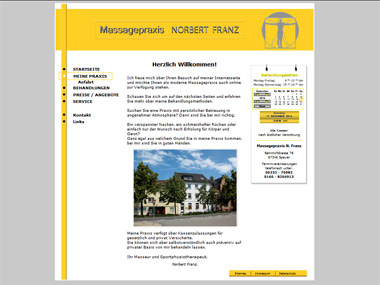 Website Massagepraxis FRANZ - Speyer